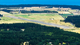 OLF COUPEVILLE FROM THE AIR IN WIDESCREEN