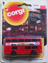 SEE MORE LONDON (streamer020nl) Tags: london bus doubledecker corgi junior 81 1981 diecast metal gb piccadillycircus mettoy daimler fleetline