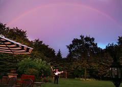 Rainbow (Jenny Onsager) Tags: rainbow love sky pink purple pinksky potofgold storm rain