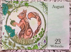 Johanna Basford, 2017 Coloring Calender.  Andrews McMeel Publishing, 2016 (delphinecingal) Tags: pencils docrafts®markers feutresdocrafts® crayons kohinoor craiespastels pastelchalks johannabasford2017coloringcalenderandrewsmcmeelpublishingcouleurcolorscoloringcoloriage