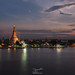Bangkok Iconic Wat Arun at Sunset