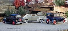 Ford's Tudor Sedan - 1930, 1933 & 1940 (JCarnutz) Tags: 124scale diecast franklinmint danburymint 1930 1933 1940 ford tudorsedan