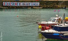 Folkestone is an Art School! (philbarnes4) Tags: folkestone harbour folkestoneharbour dslr water sea philbarnes nikond5500 kent coast england