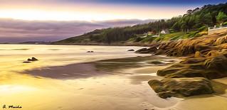 Sunset at the beach. Atardecer en la playa