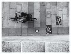 Bike&Signs (oiZox) Tags: bike signs zox streetphotagraphy street urbano urban sport bicicletta bici blackwhite blanconegro bw bilbao zoximage mono monochrome bizcaya euskadi people light luce luz human happiness joy