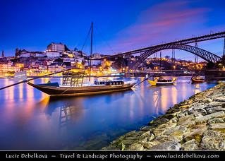 Portugal - North Region - Porto & Dom Luís I (Luiz I) Bridge at Dawn - Twilight - Sunrise