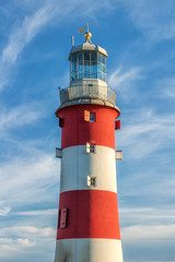 Dark side or Light side? (Rich Walker75) Tags: plymouth plymouthhoe smeatonstower lighthouse lighthouses landmark landmarks red white blue sky cloud shadow light dark canon eos100d efs1585mmisusm eos architecture
