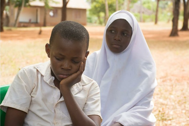 School boy and girl in deep thought-1