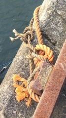 Anstruther (jackanol) Tags: rope rust knot