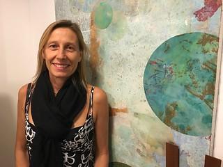 Artist Benedicta Blanc-Fontenille In her studio at Kroma