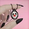 Clown Cameo Necklace (beatblack) Tags: clown necklace product cameo jewlery handmade resin toronto artist gothic horror crimeberry
