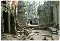 Magical Places and Things -The Mekong (10) (The Spirit of the World) Tags: angkor khmer siemreap cambodia southeastasia indochine 12thcentury ruins atmospheric haunting treeroots jungle greenglow moss ancient