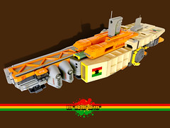 BSL Marcus Garvey: Sketch View (Keith Goldman) Tags: ship shiptemberv space lego marcusgarvey ghana blackstarline goat