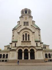 Bulgaria: Sofia (DJLeekee) Tags: bulgaria sofia fountain statue putin synagogue trams tourism park square car