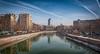 Βουκουρέστι, ποταμός Dambovita (Οδοιπόρος) Tags: bucharest river rio cityscape city winter romania citycenter buildings nikon nikond90 nikkor travel