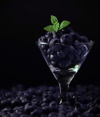 Fresh (Caroline.32) Tags: macromondays macro stayinghealthy fresh blueberries berries herbs mint nikond3200 18140mmlens extensiontube12mm
