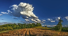 IMG_4636-38Pttzl1scTBbLGER (ultravivid imaging) Tags: ultravividimaging ultra vivid imaging ultravivid colorful canon canon5dmk2 clouds fields farm pennsylvania pa panoramic summer lateafternoon path landscape scenic sky