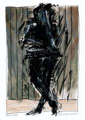 Wolfram Zimmer: Stop - Angehalten (ein_quadratmeter) Tags: wolframzimmer bilder kunst malerei gemälde wolfram zimmer konzeptkunst objektkunst mein freiburg burg birkenhof kirchzarten ausstellung ausstellungen peinture exhibition exhibitions zeichnung tusche besen ink broom besom