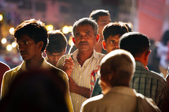 Delhi (Mathijs Buijs) Tags: new delhhi red fort chandni chowk street crowd men indian canon eos 7d india asia