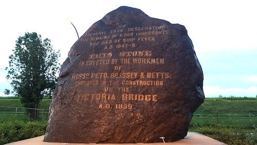 The Black Rock: Irish Commemorative Stone, Montreal, 2017