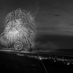 Fireworks in black and white thumbnail