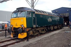 57605 Old Oak Common 2nd September 2017  E1880 (focus- transport) Tags: trains old oak common open day classes 31 47 50 57 180 800 d british railways br oliver cromwell tornado colas gbfr gbrf gwr hst rail operations group railcar diesel steam great western railway high speed train gb freight