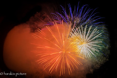 polychromie explosive (harakis picture) Tags: fireworks nuit colors couleursnight feux artifice