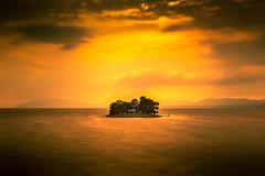 sunset 4106 (junjiaoyama) Tags: japan sunset sky light cloud weather landscape orange contrast colour bright lake island water nature summer