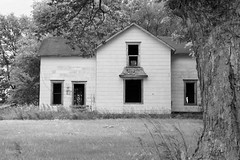 dying is forever (David Sebben) Tags: abandoned farmhouse black white infrared monochrome iowa windows dying forever