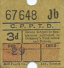 City of Portsmouth Passenger Transport Department 3d Bus Ticket (Bell Punch) (Faversham 2009) Tags: scan scanned document bus buses travel cityofportsmouth passenger transport department 3d bellpunch portsmouth hampshire