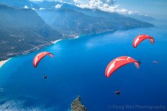 Paragliding Over Mediterranean Coast, Ölüdeniz, Fethiye, Muğla, Turkey (Feng Wei Photography) Tags: midair fun fethyie babadag leisureactivity paragliding euroasia turkeymiddleeast excitement adventure oludeniz travel cloud outdoorpursuit outdoors aerialview lycia muglaprovince highangleview scenics parachuting babadağ coast ölüdeniz exhilaration parachute beautyinnature traveldestinations eastasia coastline mediterraneanturkey horizontal tourist turkishculture tourism colorimage turkish