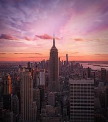 Empire State Building (RigieNL) Tags: empirestate empirestatebuilding nyc newyork america usa sundown sony sonya6000 sunset sky pink purple insta instagram building
