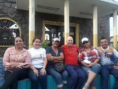 Inicio de la mision parroquial: Aitor con gente de la parroquia