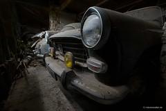 Headlights (derChambre) Tags: auto scheinwerfer industriesafaride spinnweben gelb rost nebelscheinwerfer oldtimer classiccar staub verlassen automobil