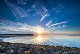 Rays of sun over a calm sea!