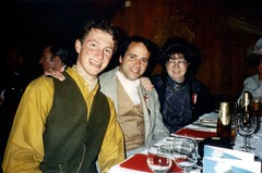 Dinner at the Gasthof Kreuz - Marcus Geisser, Jeff Spinner & Jean Upton