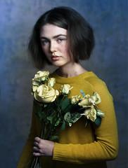Yellow roses (Valentyn Kolesnyk (ValeKo)) Tags: pentax people portrait light look mood k3