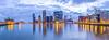 Rijnhaven Rotterdam (Siebring Photography) Tags: erasmusbridge kopvanzuid rotterdam wilheminaharbor cityscape cloudysky evening illuminated reflection skyline zuidholland nederland nl