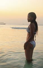 Twilight over the Indian Ocean (Pavlo Kuzyk) Tags: ocean beach girl black prettysexy bikini canon africa sunset