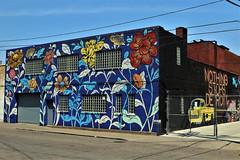Nothing Stops Detroit (Jan Nagalski) Tags: art mural flowers car automobile publicart bright urban streetart street city detroit easternmarket michigan ouizi ryandoyle muralsinthemarket jannagalski jannagal