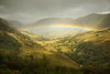 Fell Rainbow (aveyardphotography) Tags: rainbow colourful september cumbria lake district rain weather arc stream trees nature landscape green mountains light shadow north uk england clouds cloudy soft fell season seasonal bridge