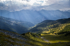 View from Plan du Fou (norm.edwards) Tags: plandufou switzerland green lush valley sunset lovely altitude countryside landscape