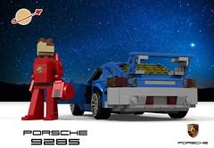 LL928 - Porsche 928 (1978) - Classic Space (lego911) Tags: porsche 928 s 1978 1970s classic ll928 ll space coupe v8 auto car moc model miniland lego lego911 ldd render cad povray lugnuts challenge 118 makeitatheme make it theme