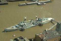 HMS Belfast (Steve Dawson.) Tags: hmsbelfast museum ship river thames light cruiser royalnavy arcticconvoys wwii viewfromtheshard imperialwarmuseum london canoneos50d canon eos 50d ef28135mmf3556isusm ef28135mm f3556 is usm 29th july 2017