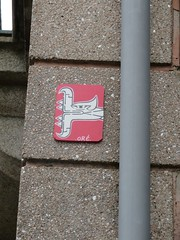 Oré (emilyD98) Tags: street art insolte oré rue ville city rennes insolite urban exploration urbain urbaine artiste artist collage mur wall installation quetzalcóatl serpent snake graffiti graff