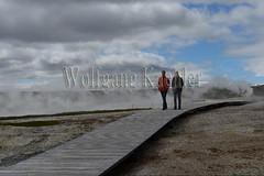 40082384 (wolfgangkaehler) Tags: 2017 europe european iceland icelandic island highlands centraliceland hveravellir hveravellirhotspringsarea volcanic volcanicactivity geothermalarea fumaroles steam people tourist tourism walking boardwalk