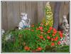 A Whimsical Moment - Serenade in the Garden. (Bill E2011) Tags: whimsical flowers statues music canon animals fun