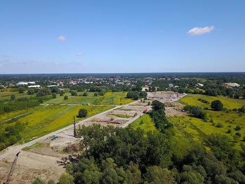 Budowa S2 między Mostem Południowym a Wałem Miedzeszyńskim (14.08.2017) z powietrza