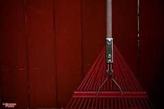 Yard Day (MBates Foto) Tags: abstract availablelight color daylight daytime existinglight homeandgarden minimalist nikkorlense nikon nikond810 outdoors rake red spokane washington unitedstates 99203