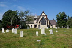 The Church of Ascension in North Head on Grand Manan Island (Bay of Fundy), New Brunswick (Ullysses) Tags: churchoftheascension northhead grandmananisland bayoffundy newbrunswick canada summer été anglican cemetery church église
